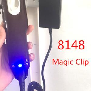 Marca 8148 Magia acortar las herramientas eléctrico Clippers del pelo del condensador de ajuste del pelo del peluquero local de afeitar para los hombres del estilo del cortador profesional inalámbrico portátil