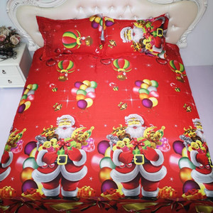 BEST.WENSD personnalisés Joyeux Noël beding décorations de Noël pour la maison lit couette housse de couette adulte ensemble de literie
