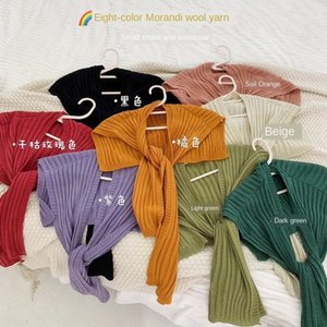 kSqkj hombro pequeño otoño y el invierno al aire libre bufanda chal de protección femenina cuello chal populares en línea anudada verano bufanda hecha punto