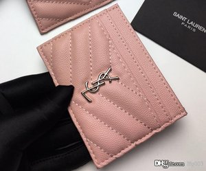 Cassa di carta di cuoio donne calde dal design di lusso Porta carte di credito 423.291 Elegante Metal Texture superiore Dimensioni 10.5 * 7.5 * 0,5 centimetri