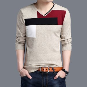 WOQN Pull Hommes de Nice Printemps Casual Hommes Pulls Coton O Neck pleine manches Pull Hommes Slim pull-overs Homme