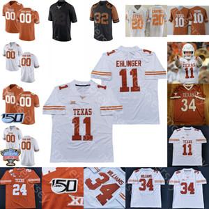 Texas Longhorns Futbol Jersey NCAA Koleji Robinson Whittington Moore Tarık Black Booker Tillman Jr. Sam Ehlinger Ingram Genç Johnson