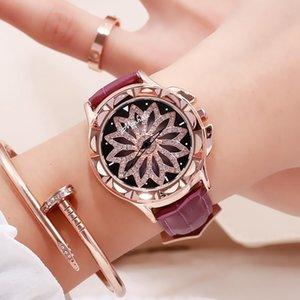 Estilo Diamond Watch Mulheres Couro Belt Moda Quartz Relógio de pulso coreana relógio Relógio Feminino Mulheres presente