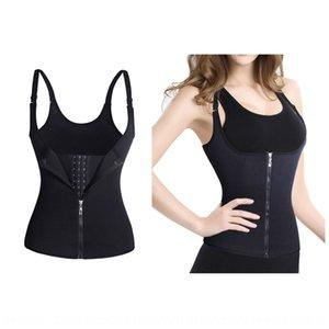 New dois-em-um esporte de moldar o corpo roupas ajustável três seios saúde-transpiração do suor novo dois-em-um Zipper colete esportes body-shaping c