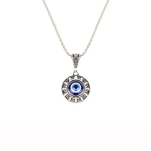 Collier Femme 2020 Rhinestones Inlay Animal Heart Evil Eye Lucky Pendant Necklace for Women Girl White K Simple Necklace Jewelry