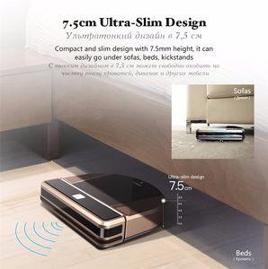 Robot inalámbrico Aspiradoras para el hogar aspirador limpiador mojado limpiador de pisos de la esquina de la esquina robot Sweeper y así sucesivamente