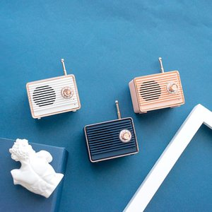 Cámara clásica cgjxs altavoz Bluetooth retro Memoria Radial Estilo Altavoz de la vendimia Recordarme Macarons portátil bolso SUBWOOF inalámbrica