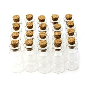 2ml Vials Clear Glass Bottles With Corks Mini Glass Bottle Wood Cap Empty Sample Jars Small 16x35x7mm(HeightxDia) Cute Craft