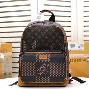 Campus Rucksack Men Bag Fashion Trend Vintage-Mann Zipper Schultertasche Luxus-Leder-Herren-Reise Rucksack Kuitixm schnelle Anlieferung