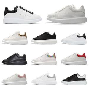 Новый Ace Black White Queens Brand Fashion Кожаные Мужчины Женщины Повседневная Обувь Черный Золотой Красная Мода Удобный Плоский Повседневный тапки Размер 36-45