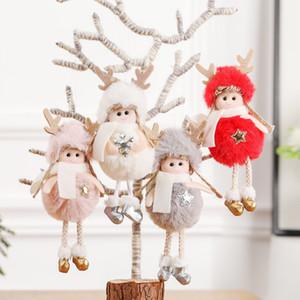 2020 새로운 크리스마스 장식 펜던트 8 개 스타일 귀여운 크리스마스 소녀 인형 봉제 깃털 천사 크리스마스 트리 크리 에이 티브 펜던트 사랑