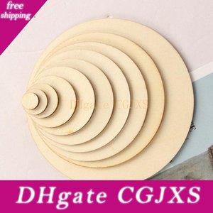 Natürliche runde Holz-Chips Diy Malerei Kreis Scheibe Discs Blank Holzstücke Kinderspielzeug Partydekoration Holzkunsthandwerk