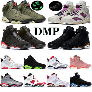 Infrarrojos Bred 6 6s Zapatos baloncesto de los hombres Gatorade Carmín UNC Oreo Tinker Chrome Gato Negro alternativo barato de diseño zapatillas de deporte