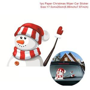 Novo Decorações de Natal Car Navidad 2020 Presentes de Natal Adesivos Início 2021 Qifu feliz Claus Decor Santa para bbyUpS lg2010