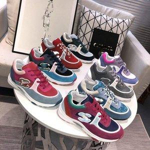 Chanel nuevo de la manera mujeres de la llegada de mayor venta vestido de los zapatos zapatillas de deporte Diseño Entrenadores de calidad superior Calzado deportivo casual.