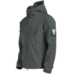 Shark skin soft shell jacket waterproof windproof riding jacket tactical windbreaker outdoor mountaineering wear