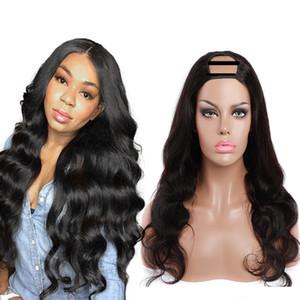 2x4 U Parte parrucca di Yaki dei capelli umani per le donne corpo libero profonda Nessuno del merletto del Virgin brasiliano capelli umani parrucche di acqua Riccio