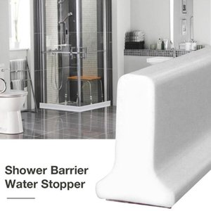 Shower Barrier Bathroom And Kitchen Water Stopper Collapsible Water Threshold Accessories Dam Bathroom Barrier Shower P9T6