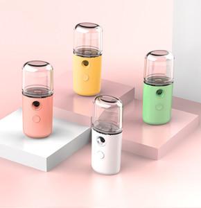 Nano Mini Yüz Steamer Taşınabilir USB Şarj edilebilir Hava Nemlendirici El Su Sisi Püskürtme Makinası İçin Ev Ofis Fogger Maker AHB1134