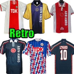 1990 1994 1989 1990 1997 1998 AJAX Ретро Футбол Джерси 90 91 97 98 Laudrup Litmanen F.de Booer Sibon Turpijn Vintage Classic Football
