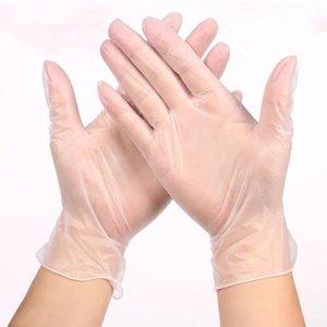 Pişirme Ev Mutfak ya da ofis temizliği 100pcs Tek Kullanımlık Vinil Sınav Eldivenler Temizle Toz Ücretsiz OLMAYAN Lateks Tek kullanımlık eldiven,