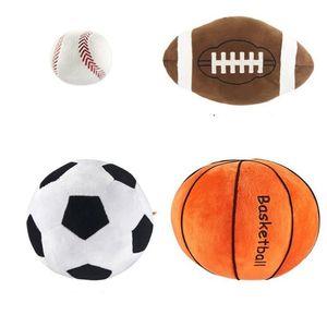 Enfants Sphère Toys Dessin animé Oreiller Sphérical Baby Peluche Poupées Imitation Football Basketball Baseball jouet pour garçon cadeau d'anniversaire LXL755
