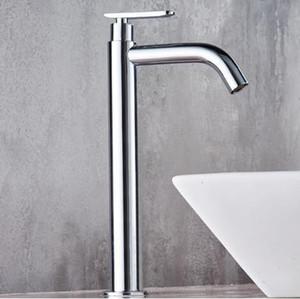 Tuqiu 단일 분지 믹서 욕실에는 차가운 물 T200107에 대한 수도꼭지 키가 크롬 황동 싱크