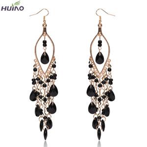 Bohemian Drop Earrings for Women Luxury Crystal Charm Hook Eardrop Popular Trendy Dangle Earring Jewellry Pendant