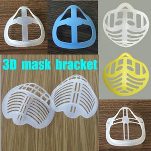 3D Maschera Staffa protezione in silicone Rossetto basamento della maschera di protezione interno Migliorare la respirazione uniformemente fredda Maschera Holder riutilizzabile Accessori top vendita
