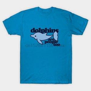 Мужчины тенниски дельфины тоже люди дельфина тенниска Printed T-Shirt тройники топ