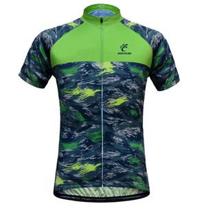Велоспорт Джерси Мужчины Камуфляж велосипед Джерси дышащий с коротким рукавом рубашки сублимированной печати велосипедов Одежда