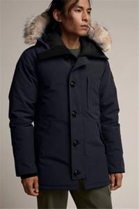 2020SS nueva llegada de los hombres de Canadá Chateau abajo parka Negro Armada gris capa de la chaqueta venta de invierno / Parka de piel con envío gratuito en línea