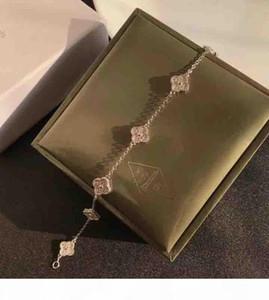 Neue Ankunft S925 Sterling Silber Mini-Blumen-Anhänger Halskette mit allen Diamanten für Frauen Hochzeit Halskette Armband Geschenk Schmucksachen freien Shi
