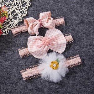 3шт / Set Baby Girl оголовье ленты Упругие головной убор Дети диапазона волос Новорожденный лук для Baby Girl 0-3Years Красивая Headwear