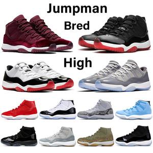 Jumpman 11 teinte de platine 11s hommes de basket-ball nuit marron chaussures de la peau de serpent rose gris blanc refroidisse bas femmes or rose élevé baskets