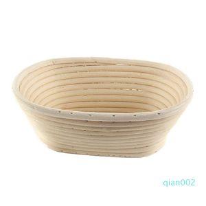 Praktische Brot Gären Basket Multi-Funktions-Fruchtkörbe Oblong-Form Rattankorb Küchen-Backen-Werkzeuge einfach tragen 31xh5 cc