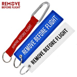 Remove Before Flight Chaveiro Custimized Embroidery Keychain for Aviation Gifts Oem Key Ring Jewelry Luggage Tag