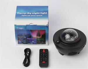 Colorful Galaxy cielo stellato luce del proiettore Bluetooth USB Voice Control di musica altoparlante del giocatore LED di luce di notte della proiezione della stella della lampada di compleanno