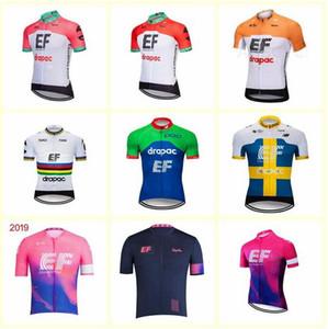 2020 NEW EF Education First команда Велоспорт Короткие рукава Джерси MTB Ropa Ciclismo мужские летние BREATHEABLE велосипедный Майо износ