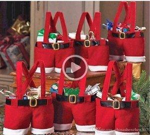 New ot Santa pants style Cristmas candy gift ag Xmas ag Gift 20pcs lot Michael