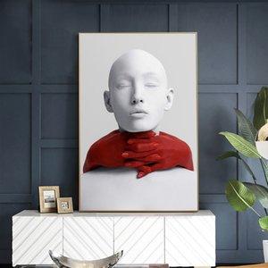 Impression sur toile Home Decor Sculpture murale Art Peintures Minimalisme Modulaire Poster Nordic HD moderne Photos Salon No Frame