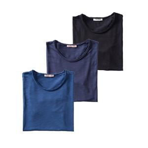 3PCS SET 2020 New Summer 100% Cotton O-neck T-shirt Men Soild 10 Colors Mens Tshirts Casual Short Sleeve Male Tops Tees 0924