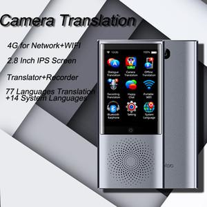 "Boeleo W1 AI simultânea Voice Translator 4G Multi-language Portable Network Inteligente Voice Translator 2.8"" Touch Screen 8G de memória"