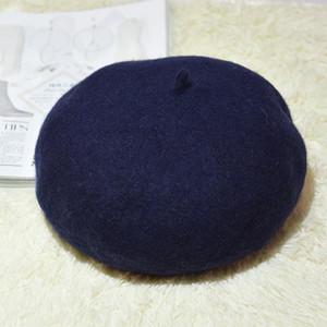 Heißer Verkauf! Hohe Qualität 100% Cashmere verdicken Frauen Barett-Frauen-elegante Beret Winter-Female British Style Lady Painter Hut Warm