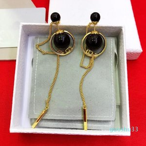 Hot Sale Hot sale Earring luxury quality hollow words in 18K Gold plated hook shape drop Earrings Women Brand jewelry gift