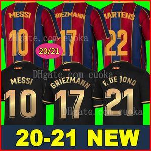 FC BARCELONA Fußballtrikot 20 21 camiseta de futbol ANSU FATI 2020 2021 Messi GRIEZMANN DE JONG Fußballtrikots Trikot Kit Kind SETS Kinder