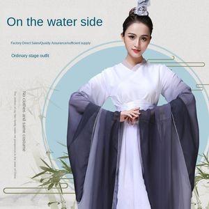 2LKdG style chinois hanfu vêtements costume créatif scène améliorée Guzheng vêtements guzheng performance adulte Film et Télévision Costume