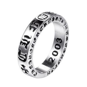 925 스털링 실버 미국 유럽 손가락 반지 보석 손으로 만든 디자이너 십자가 골동품 실버 엉덩이 남성 힙합 밴드 링