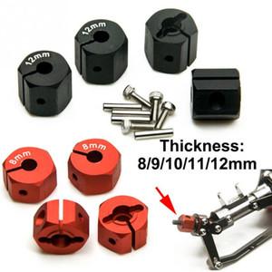 4PCS 8/9/10/11/12 mm Espesor Gran angular de la rueda Hub Hex Hex Los recambios para Axial Wraith SCX10 CC01 90027 90034 RC Car Model
