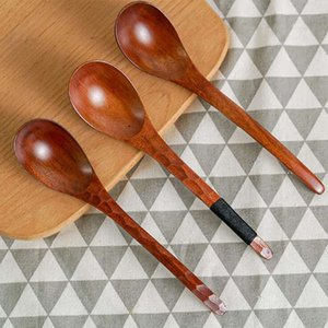 Phoebe old lacquered tortoise shell wooden spoon hand-carved round soup spoon restaurant noodle spoon